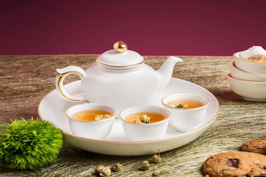 Bộ trà 0.35L Jasmine Chỉ Vàng 01357201403 Minh Long