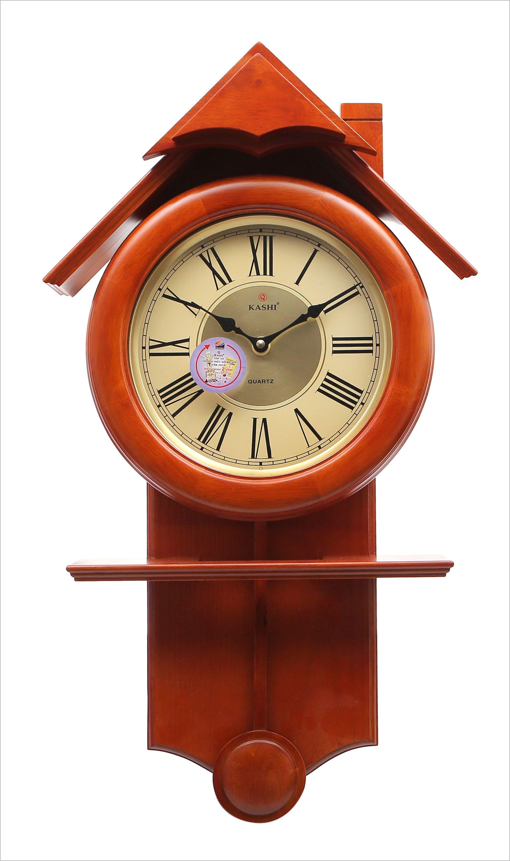 Đồng hồ treo tường quả lắc DHHM257 Nhạc Kashi 41 x 72.5cm
