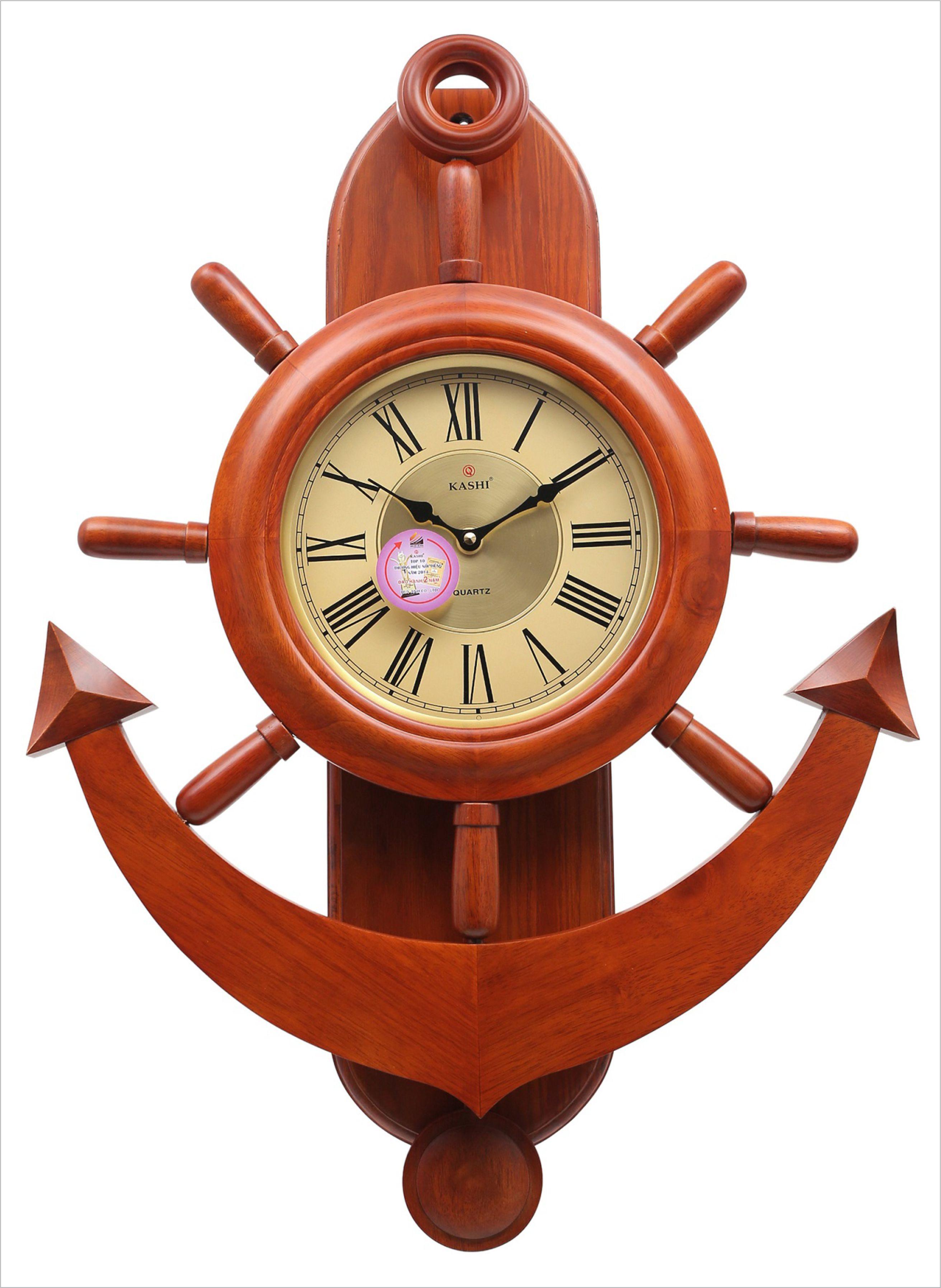 Đồng hồ treo tường quả lắc có nhạc DHHM256 số học trò Kashi 8 x 75cm