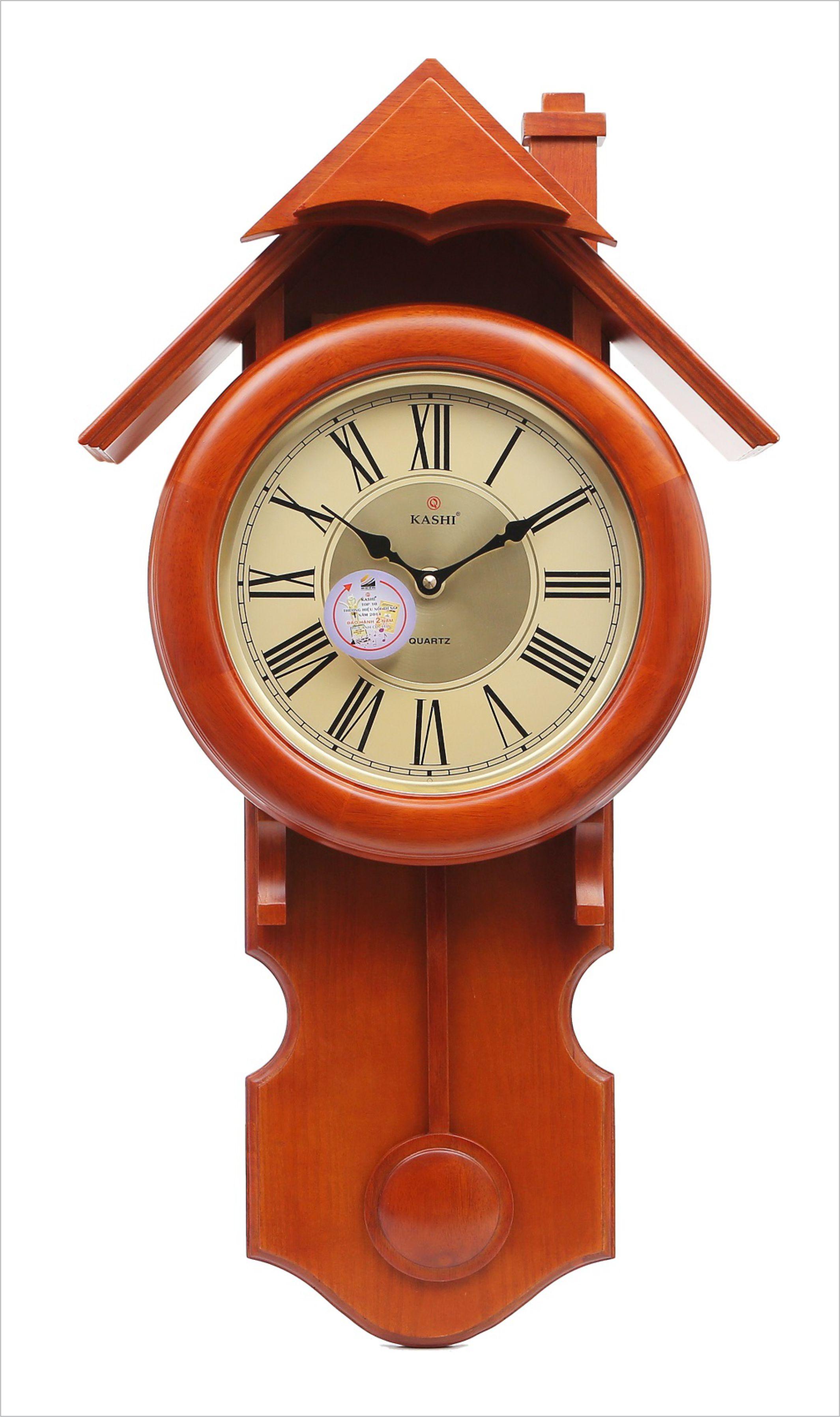 Đồng hồ treo tường quả lắc DHHM258 Nhạc Kashi  41 x 72.5cm