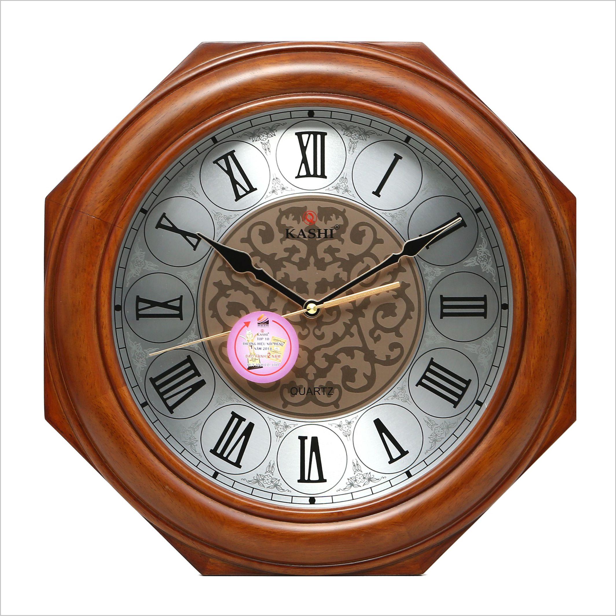 Đồng hồ treo tường DHHM335 số la mã Kashi 41cm