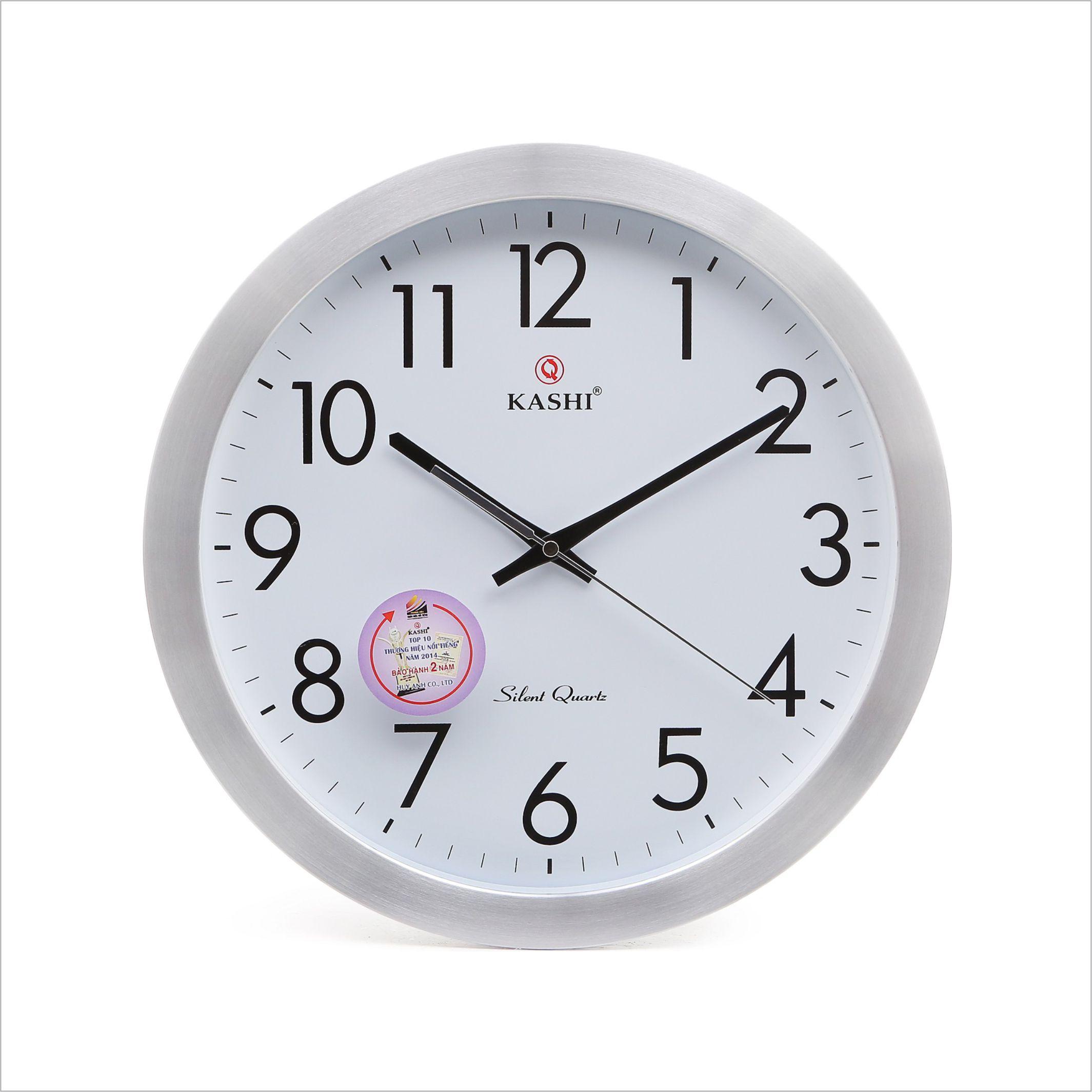Đồng hồ treo tường vành nhôm DHK707 Kashi 35cm