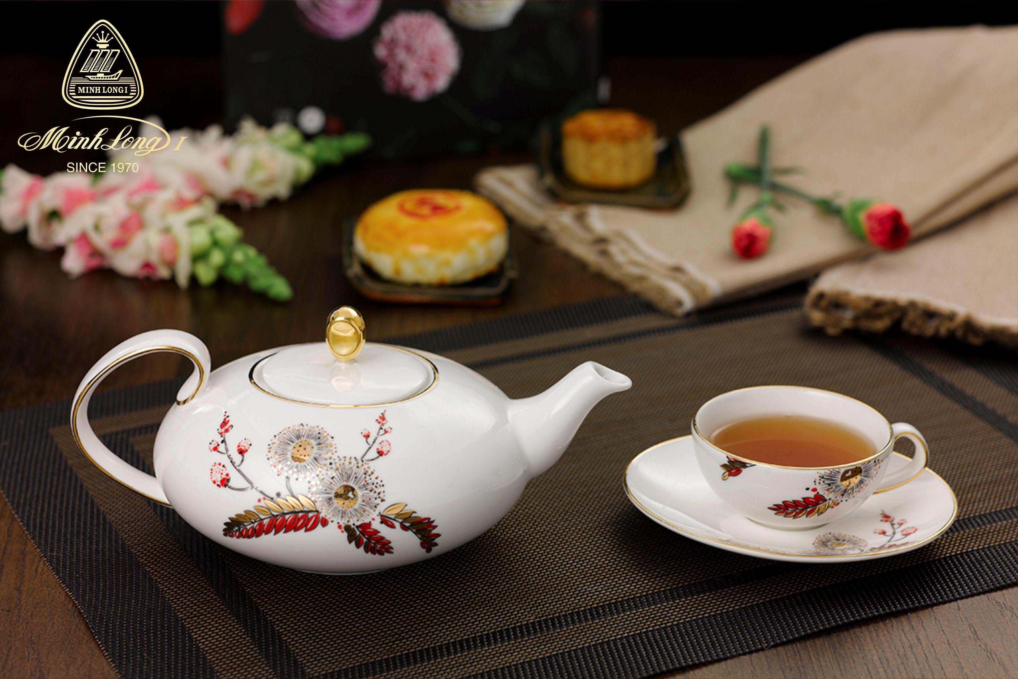 Bộ trà elip 0.47L Anna Thiên Kim 68470246103 Minh Long