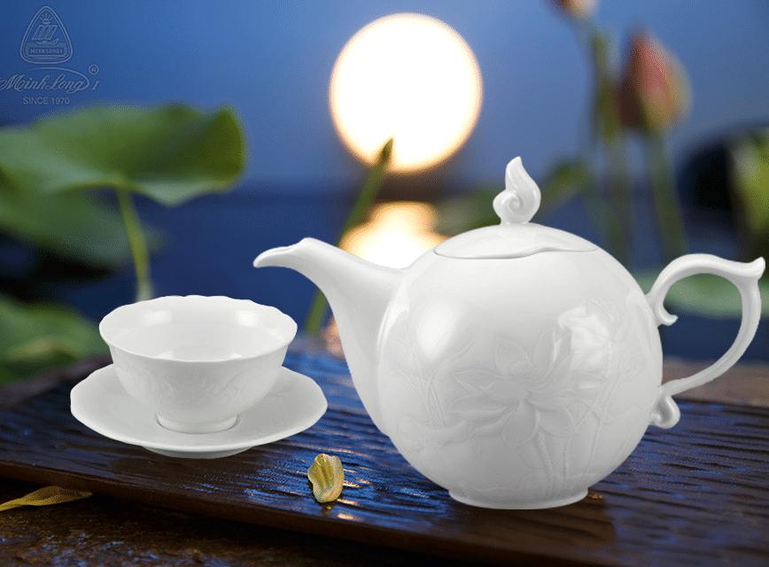 Bộ trà 0.7L Sen Trắng 68700900003 Minh long