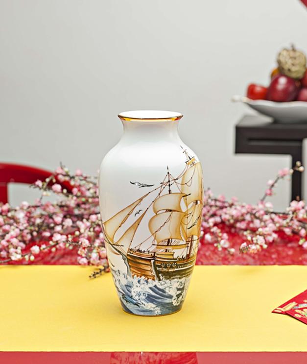 Bình hoa 27cm Thuận Buồm 112776322 Minh Long
