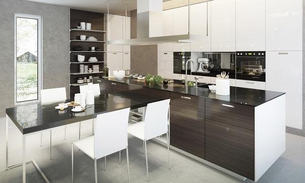 Tủ bếp Acrylic cho không gian sống sang trọng, đẳng cấp hơn
