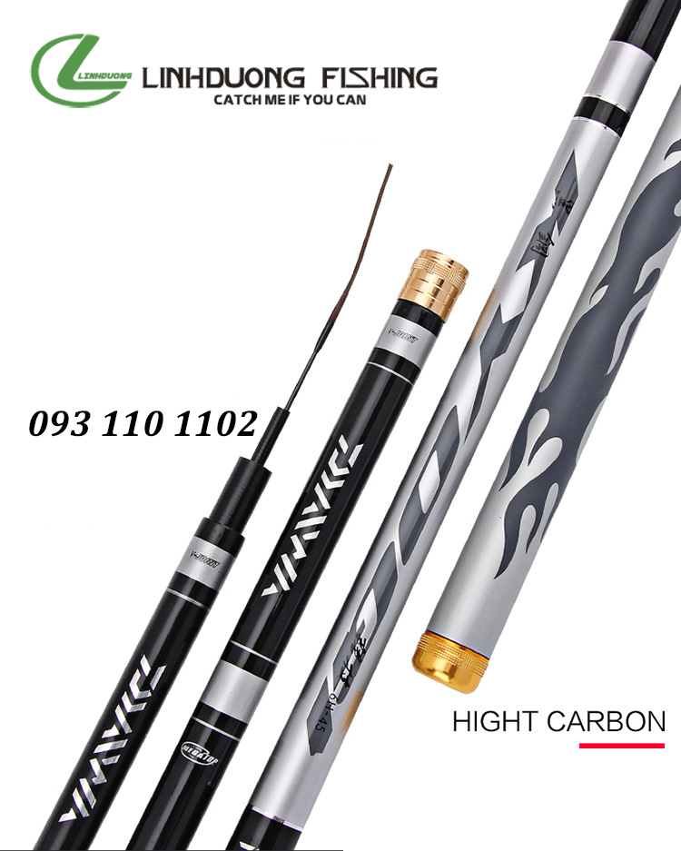 Cần câu tay carbon DAIWA 6H