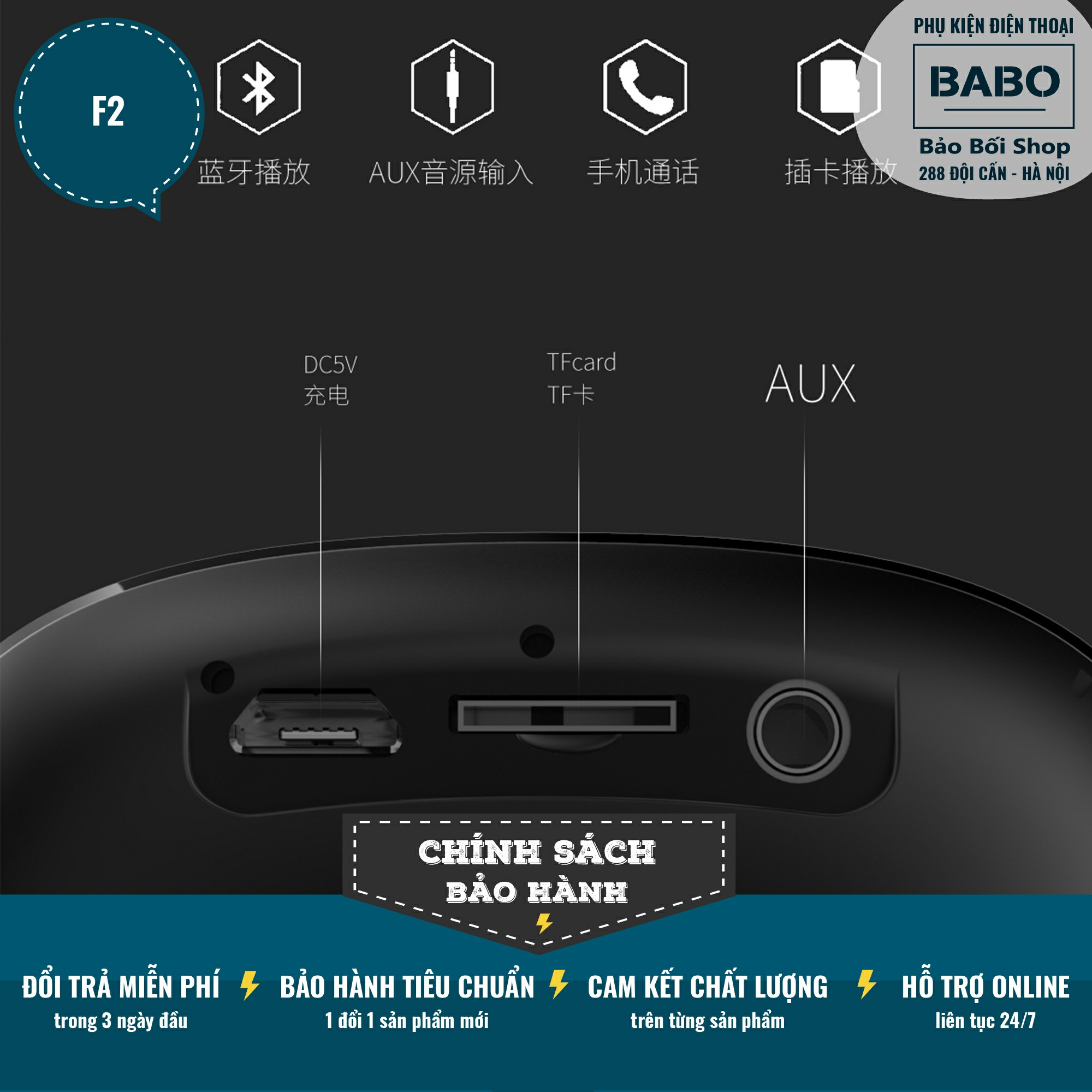 Loa Bluetooth Mini Âm Thanh Siêu Hay Sendem F2 - Đắm Chìm Trong Từng Nốt  Nhạc