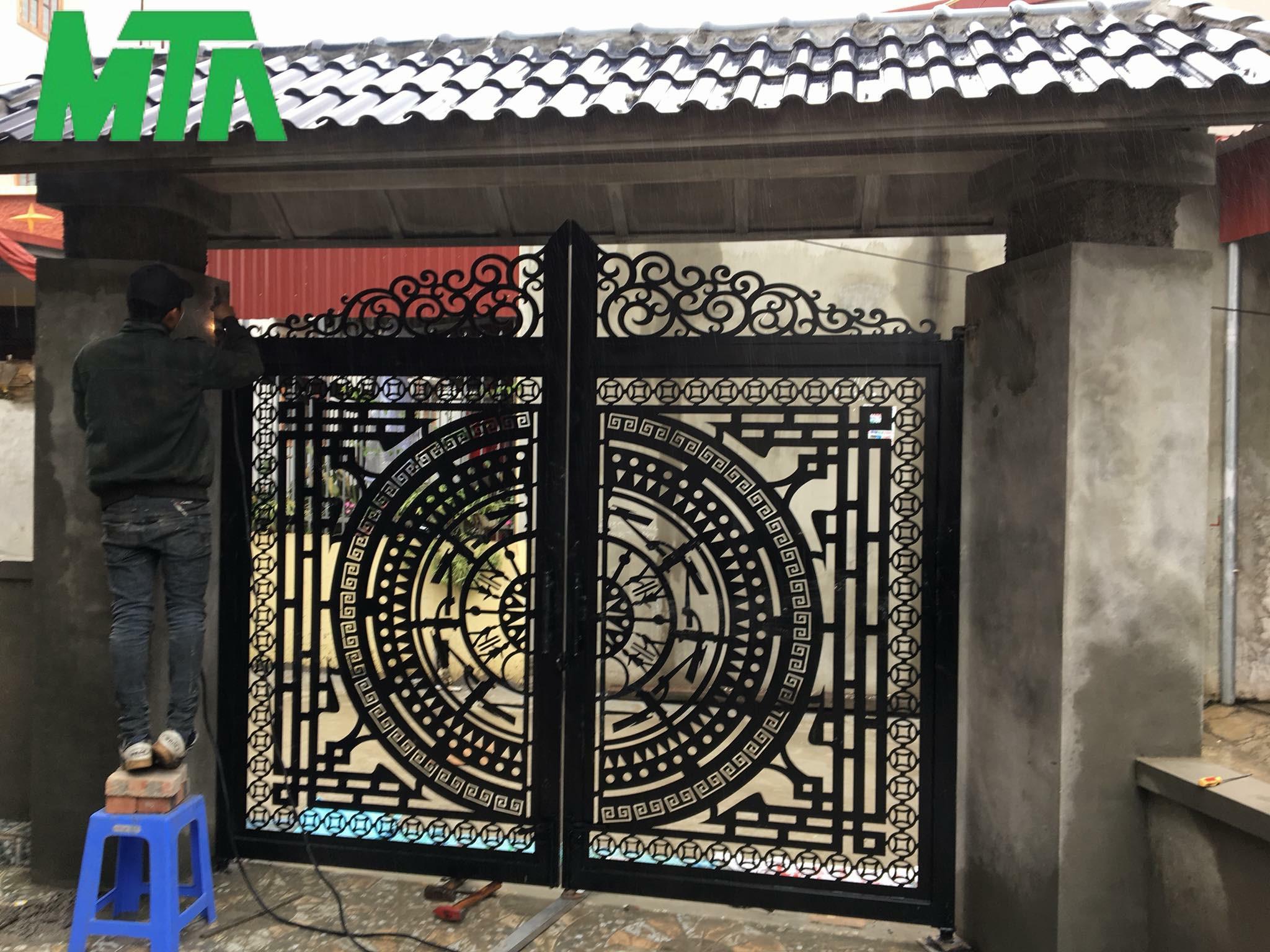 mẫu cổng hoa văn cnc