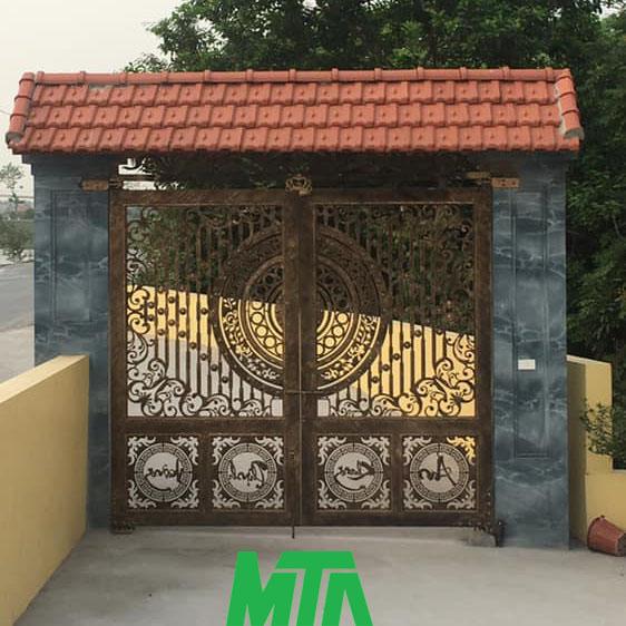 mẫu cổng sắt  hoa văn cnc