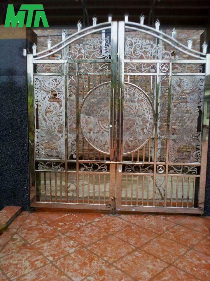 mẫu cổng inox 2 cánh
