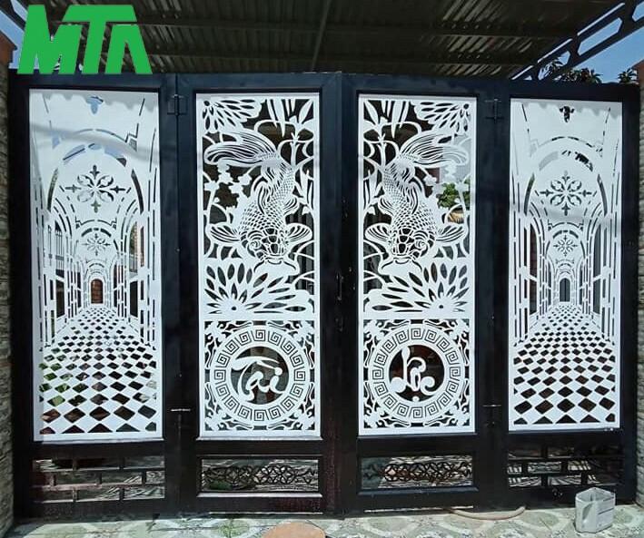cửa cổng sắt đẹp, sang trọng hiện nay
