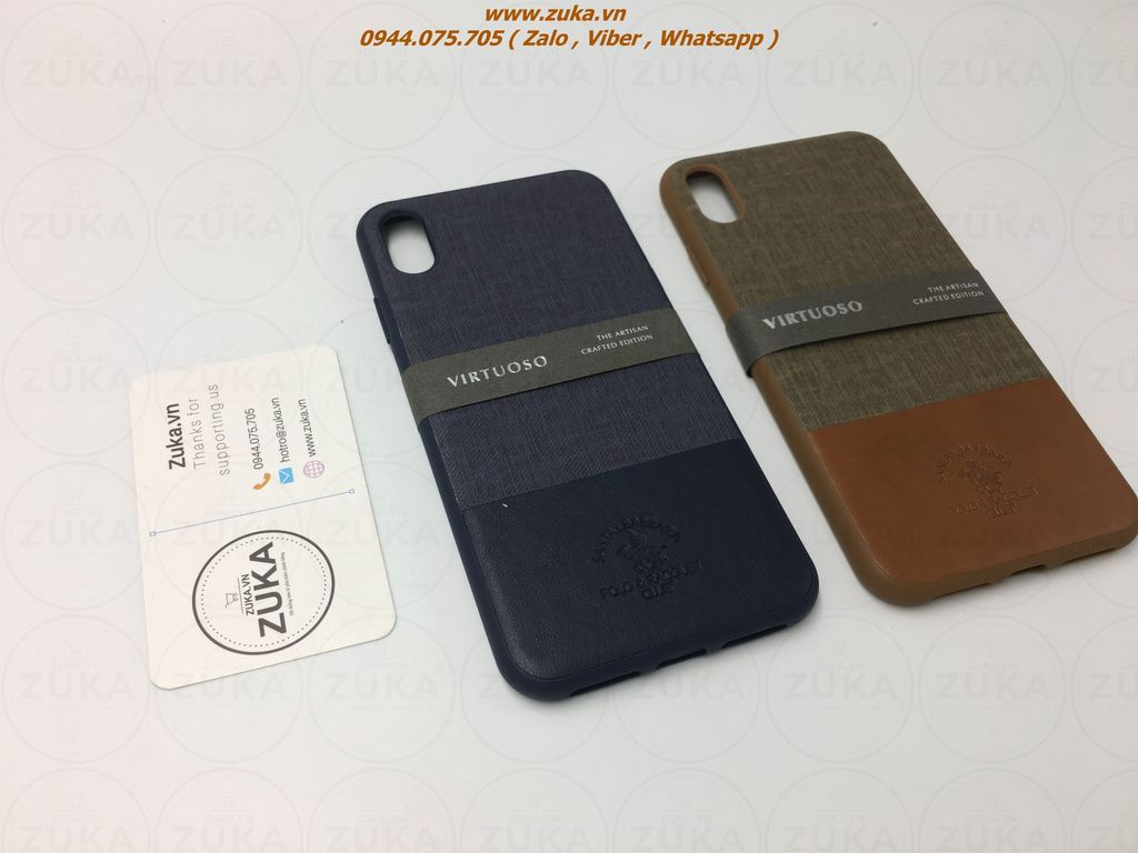 Ốp lưng da iPhone Xs Max POLO & RACQUET CLUB