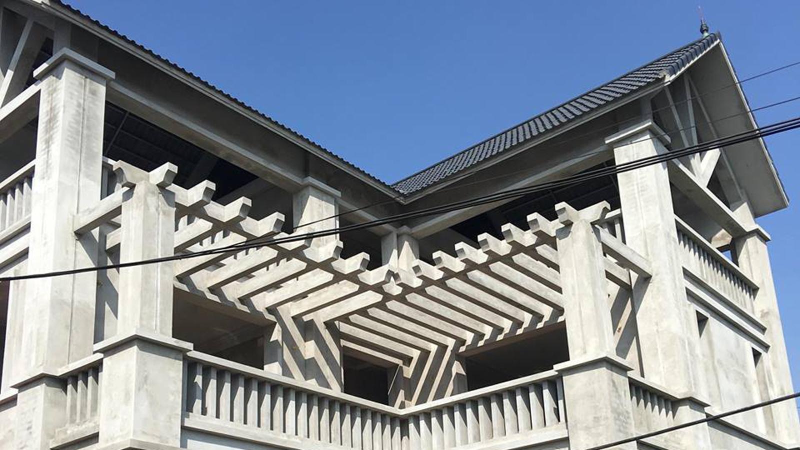 thi công kiến trúc - thiết kế kiến trúc - nhà mái thái