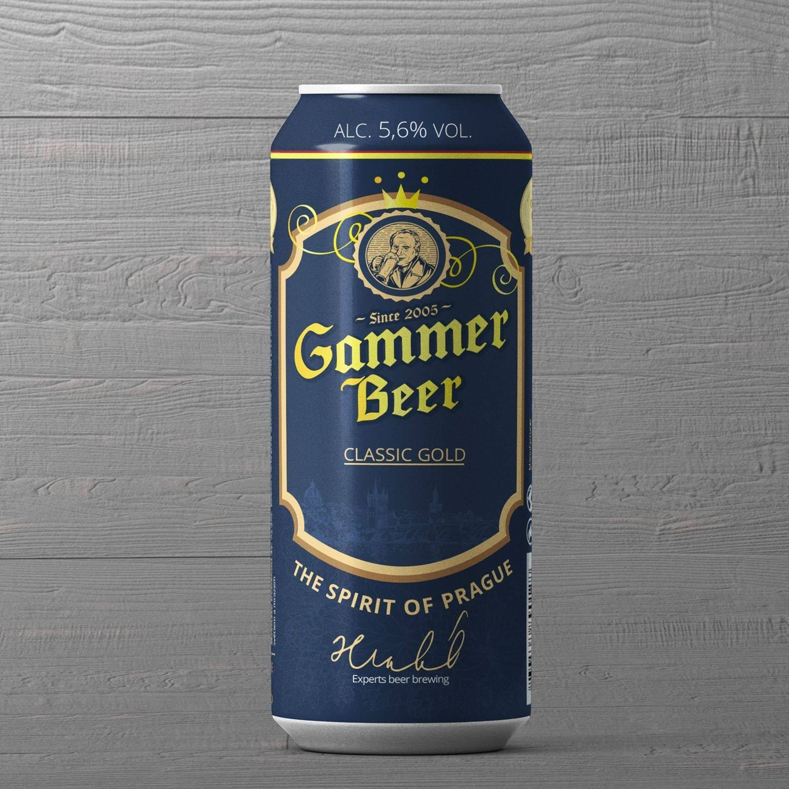 BIA TIỆP GAMMER CLASSIC GOLD 500ML