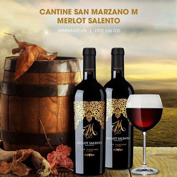 Rượu vang đỏ M Merlot Salento
