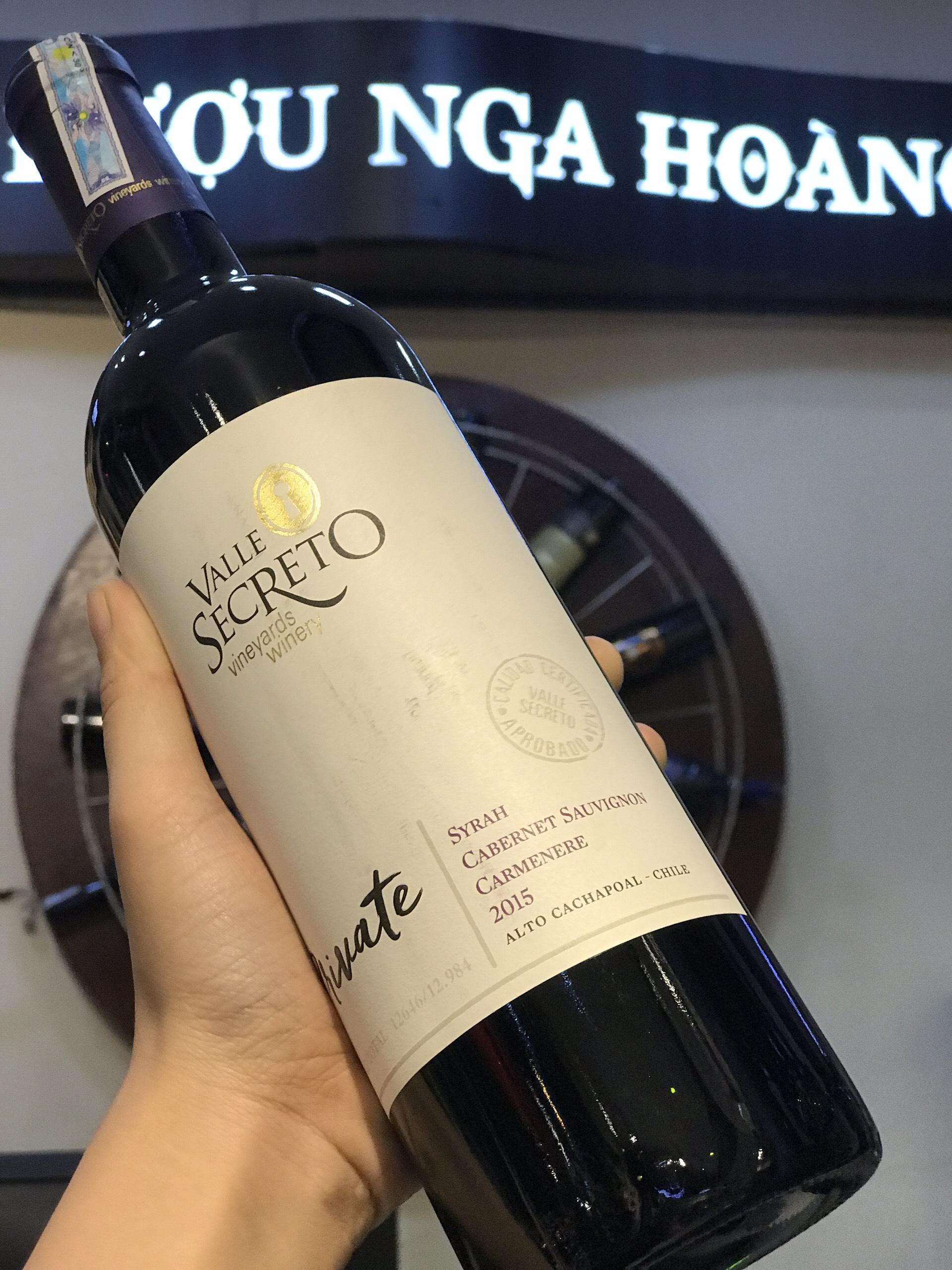 Rượu vang đỏ Valle Secreto Private  (Vang Chi-lê)