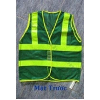 Áo phản quang lưới màu xanh môi trường