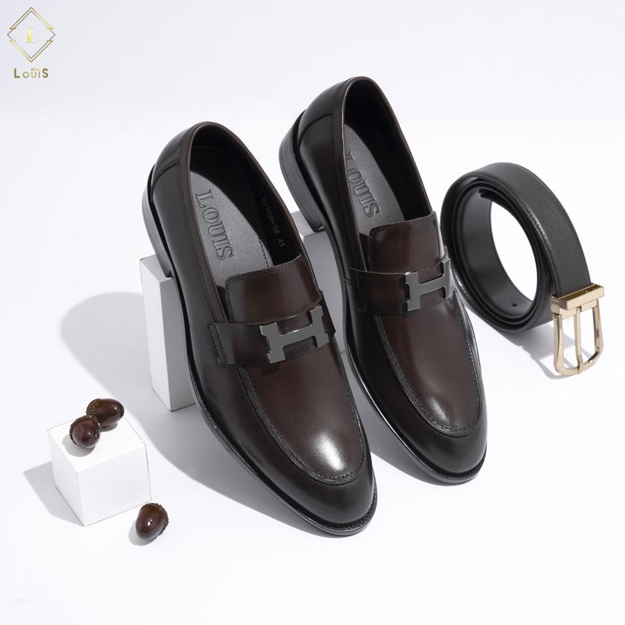 Giày Loafer mặt chữ H kim loại B31009-52N