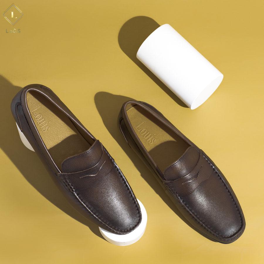 Giày Moccasin nâu 309916
