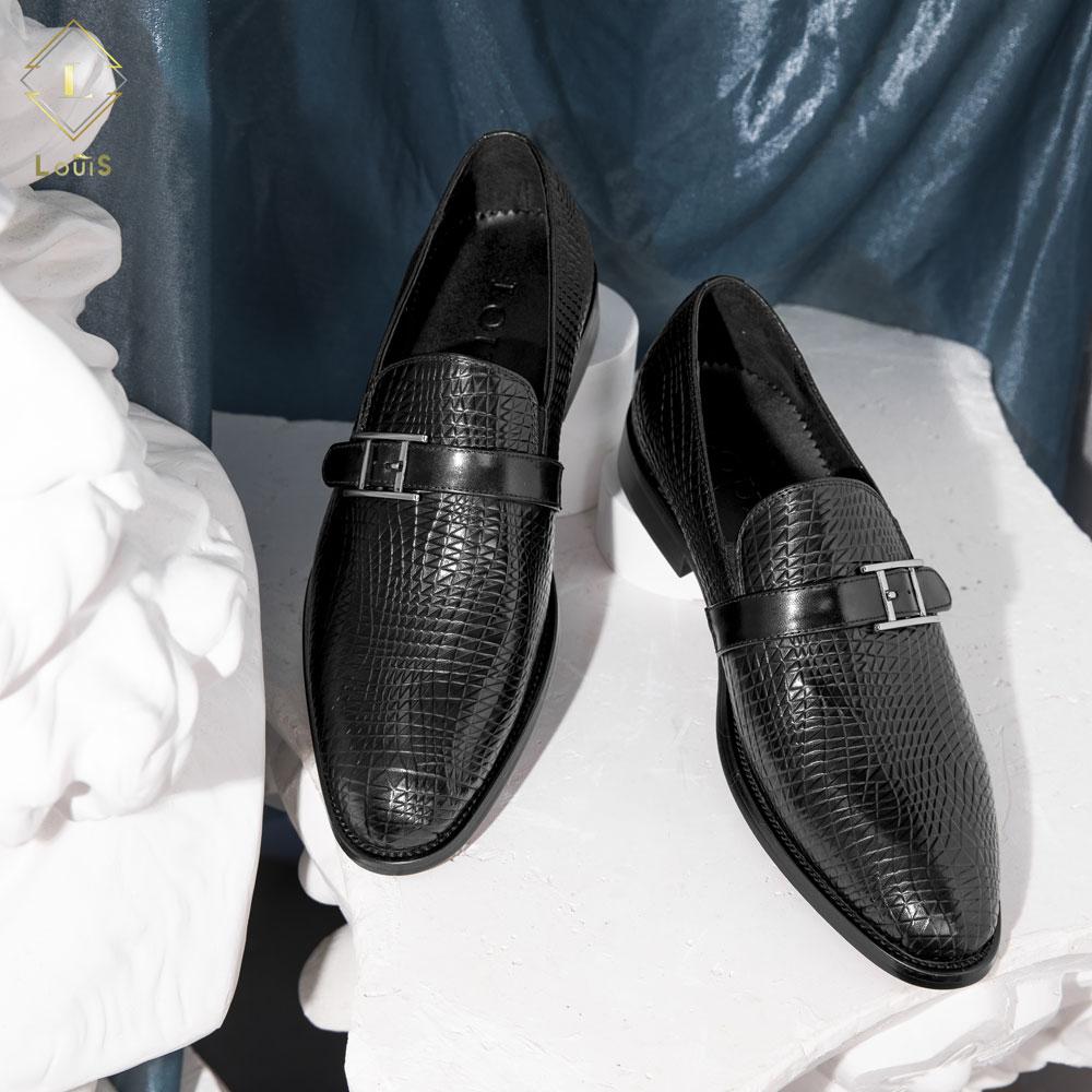 Giày lười họa tiết cài B92-104
