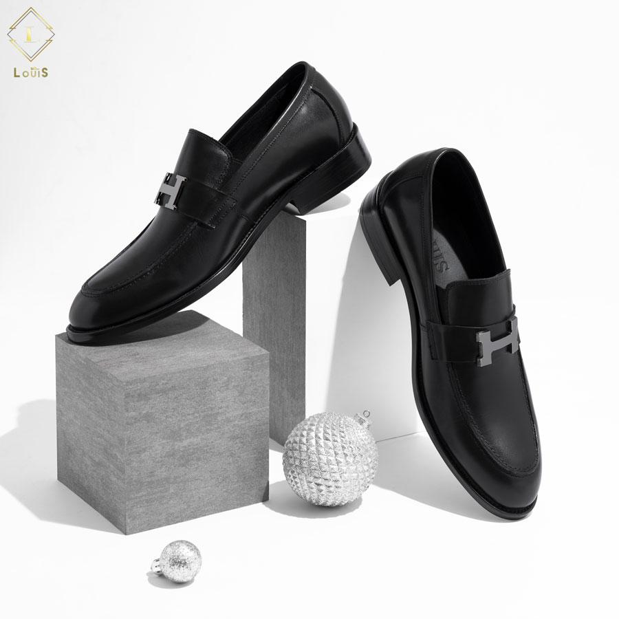 Giày Loafer mặt chữ H kim loại B31009-52Đ