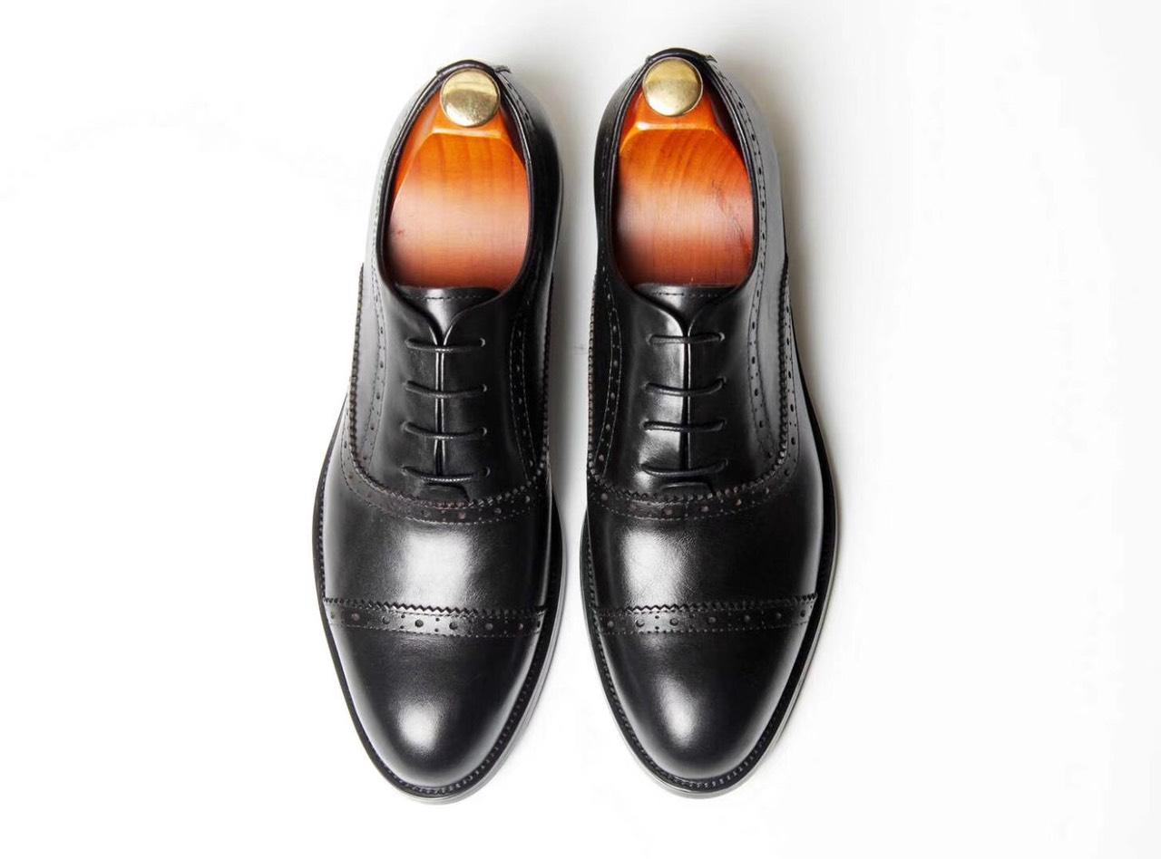 Giày da Oxford đen Y299-3Đ