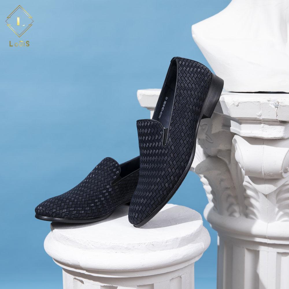 Giày lười xanh họa tiết YB273-135