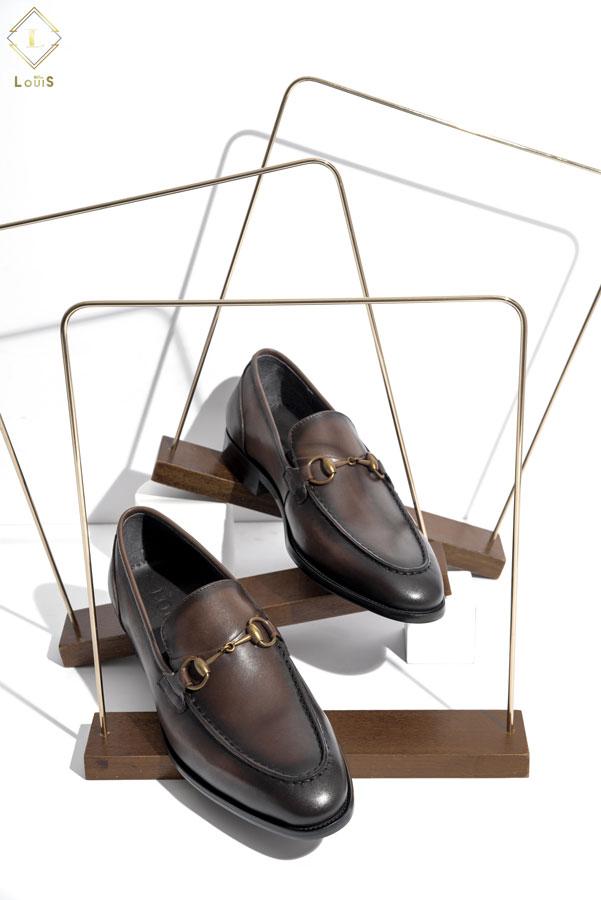 Giày Loafer đai ngang kim loại 2268-C18N