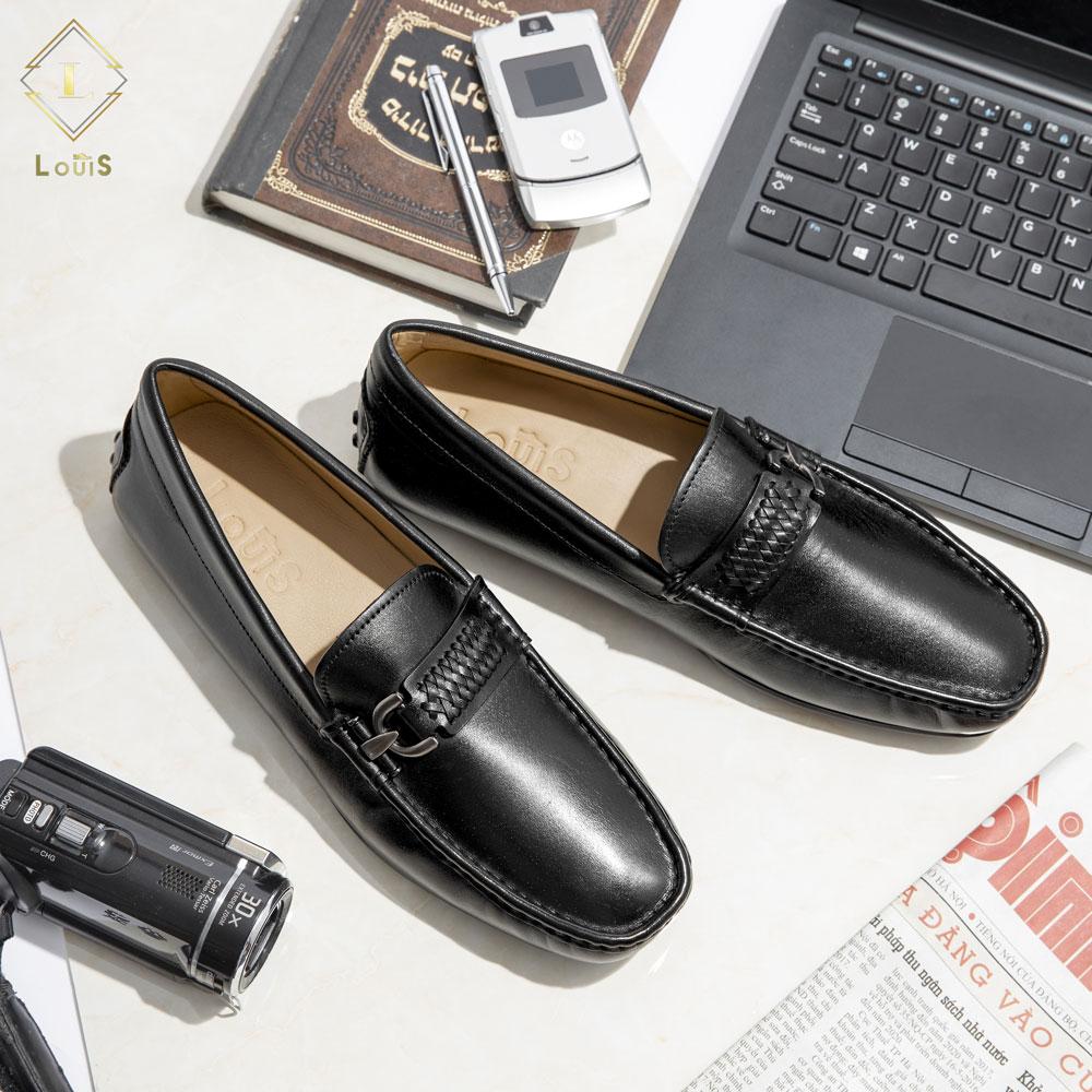Giày lười họa tiết quai tết LT-01