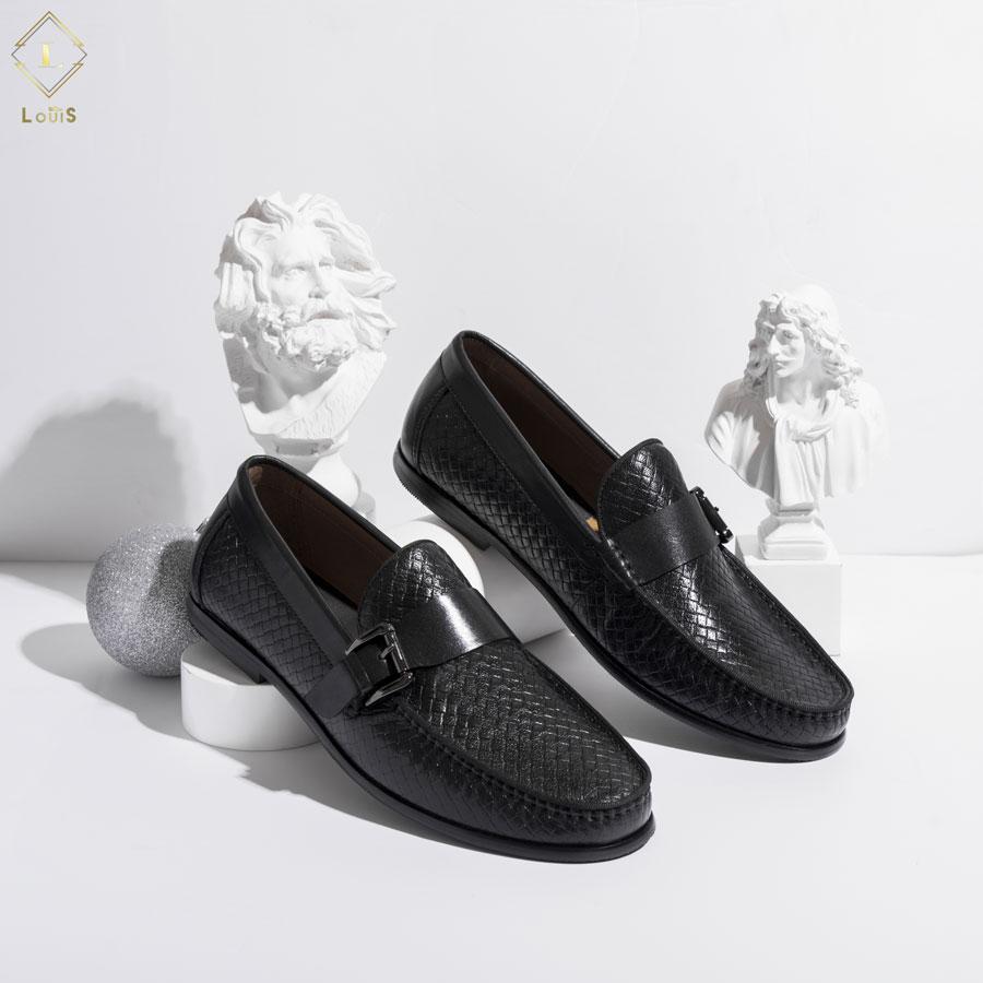 Giày lười da đan 19108-31