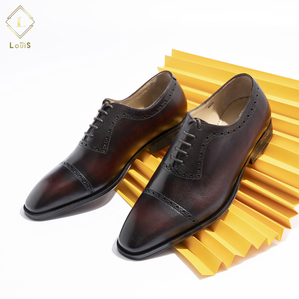 Giày tây nâu đỏ BA-01