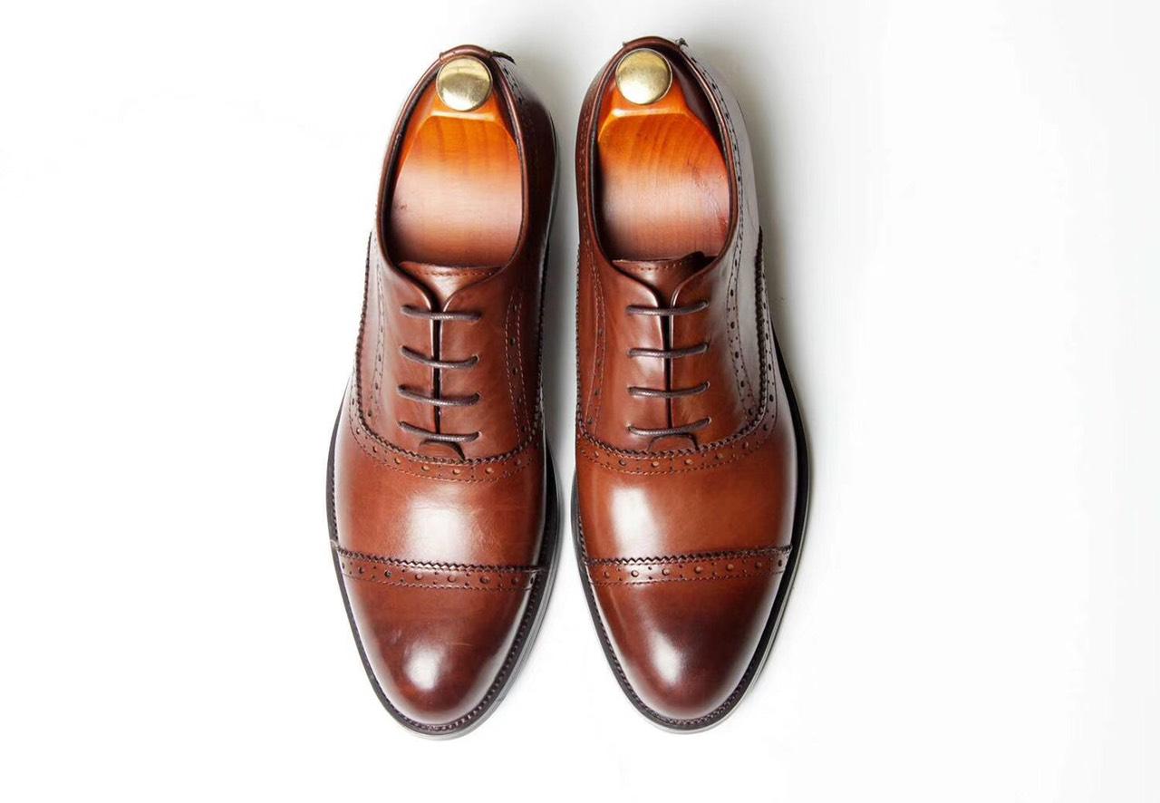 Giày da Oxford nâu Y299-3N