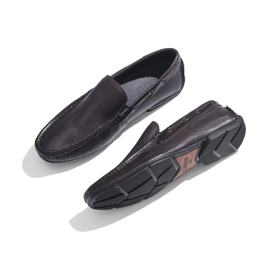 Giày lười nâu bo viền cao cấp 365A-15-982