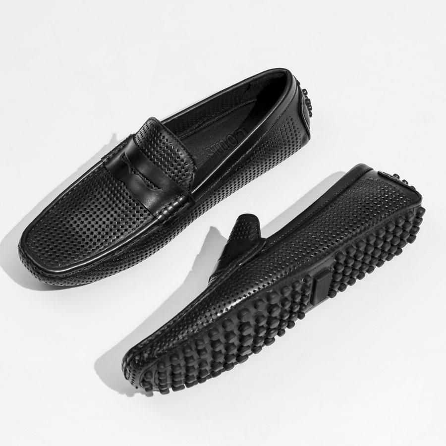 Giày lười đục lỗ đế cao su hạt 999-1