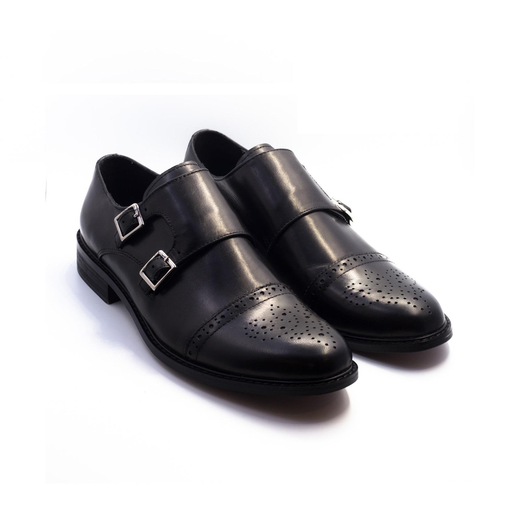 Giày lười Monk Strap mũi họa tiết D813-39