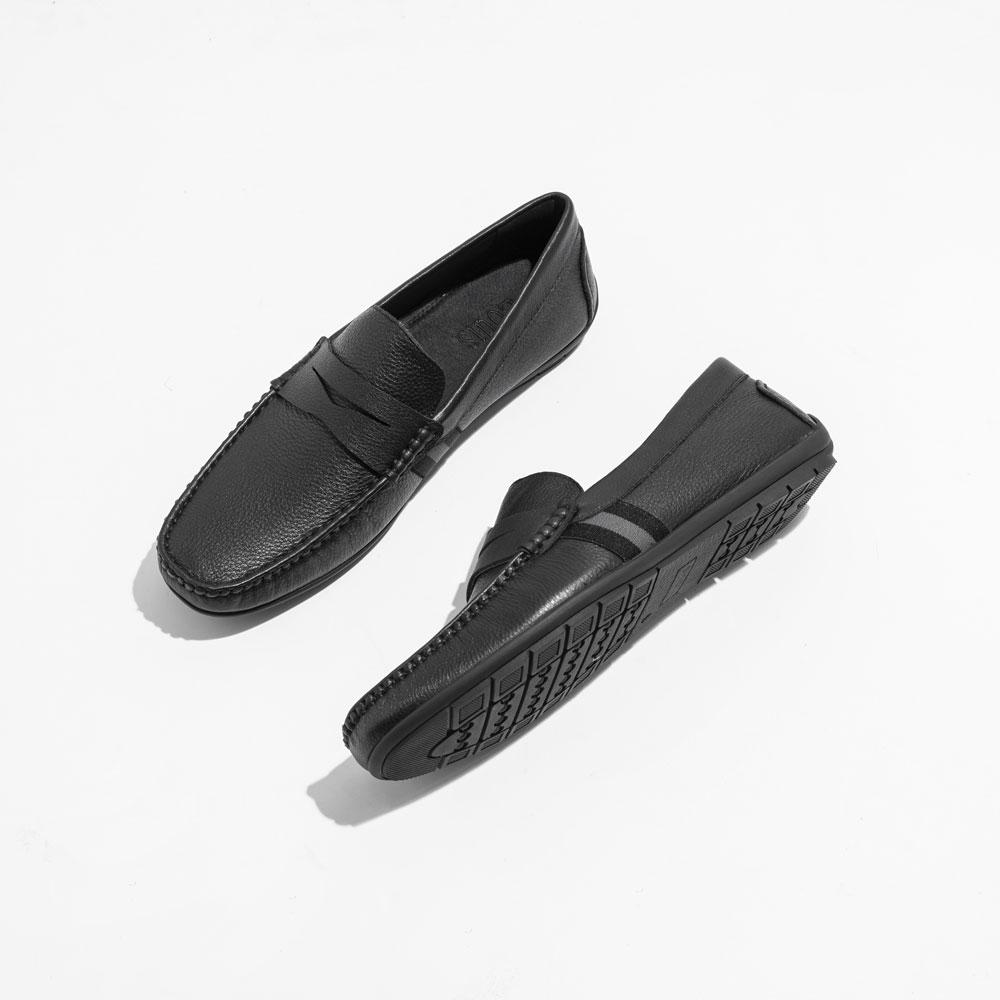 Giày lười họa tiết sọc màu đen 821-21-4D