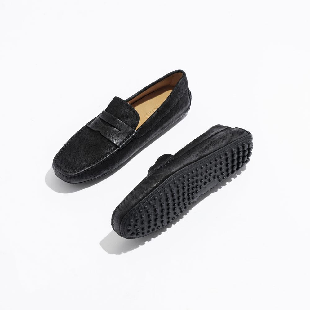 Giày lười xám da lộn cao cấp GL-Đ