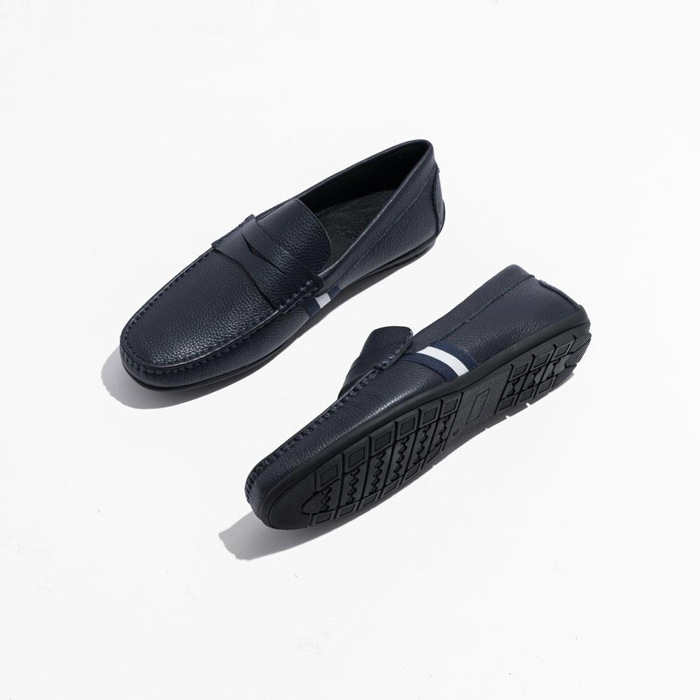 Giày lười họa tiết sọc màu xanh 821-21-4X