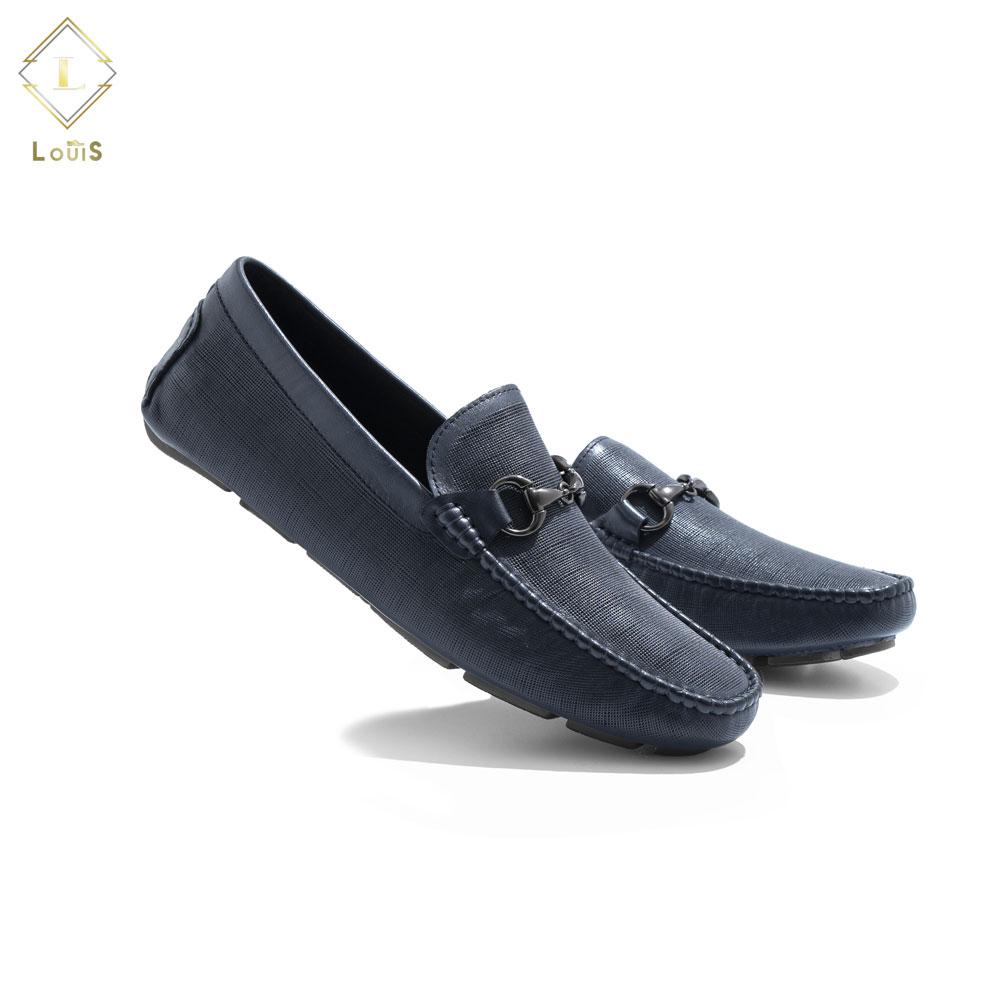 Giày mọi da xước đai kim loại 1067-1