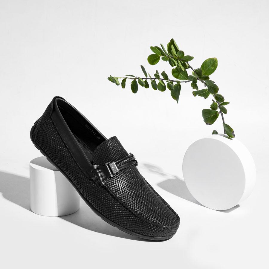 Giày lười cao cấp vân da rắn 821-1-1