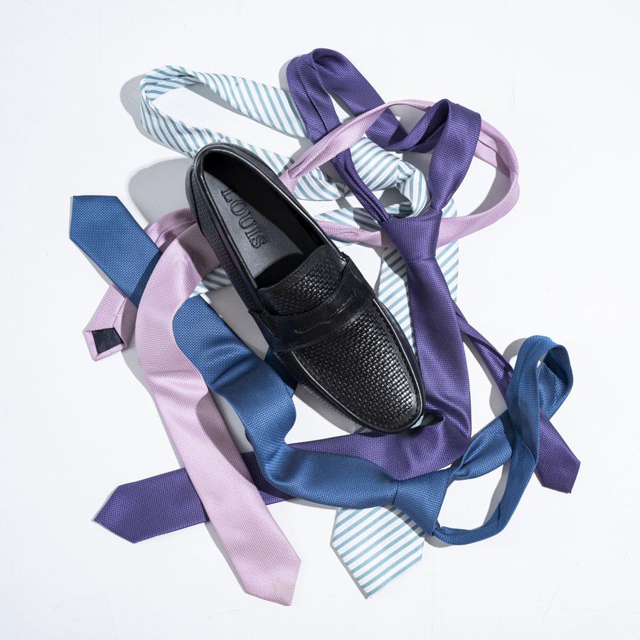 Giày Moccasin họa tiết da đan 19109-30-7