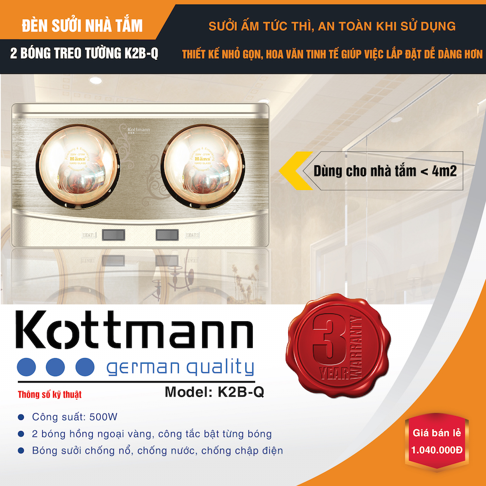 den-suoi-kottman-2-bong-treo-tuong-k2bq-moi