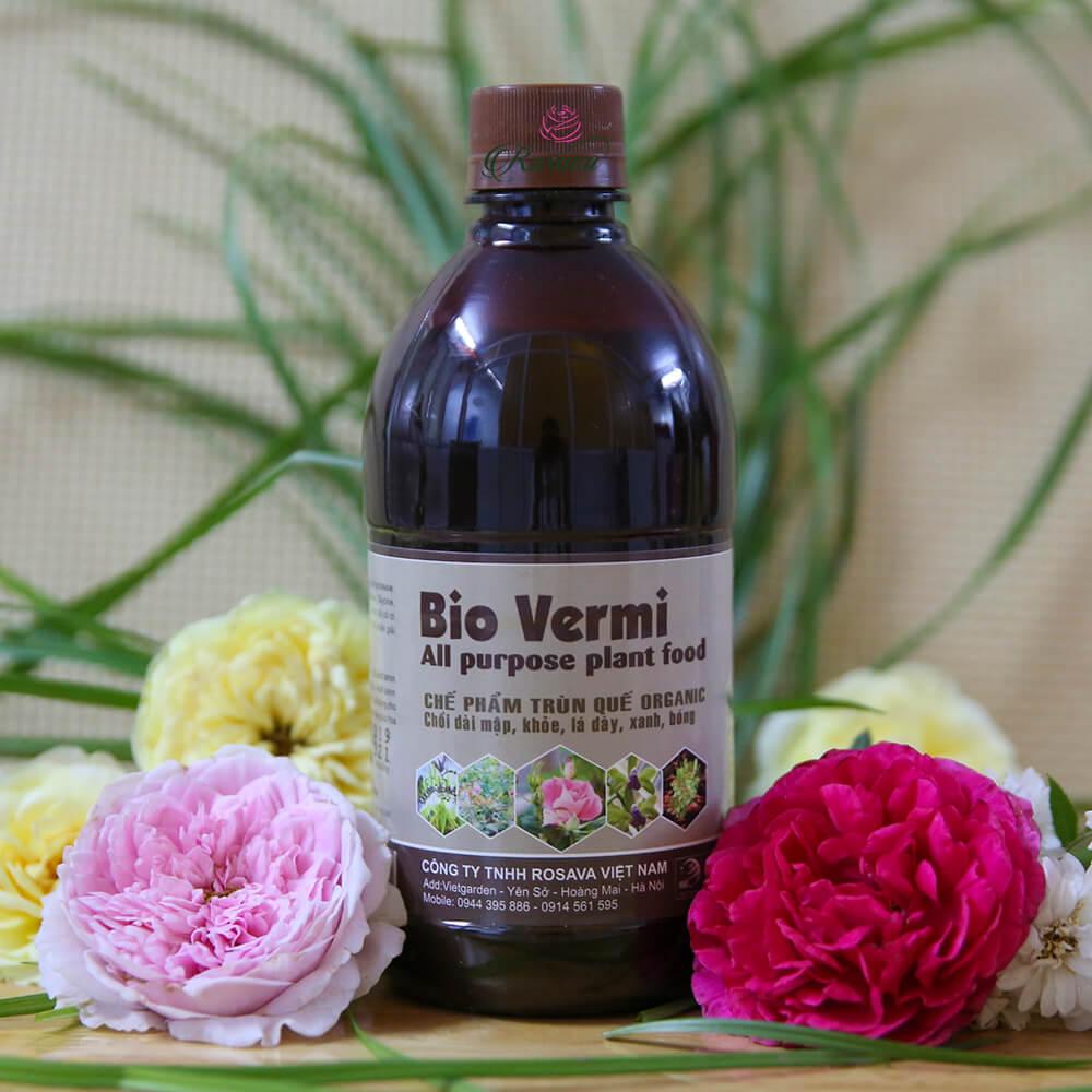 Chế phẩm trùn quế organic Bio Vermi – phân bón cực tốt cho hoa hồng