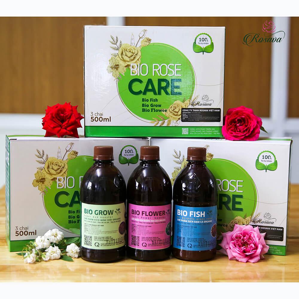 Combo Rose Care (plus) – phân bón vi sinh cao cấp kích mầm, dưỡng cây, kích hoa cho hoa hồng