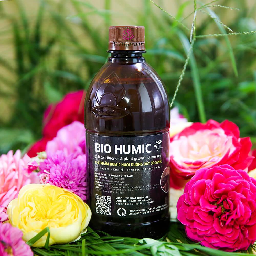 Phân bón Bio Humic cho hoa hồng cao cấp công nghệ Nhật
