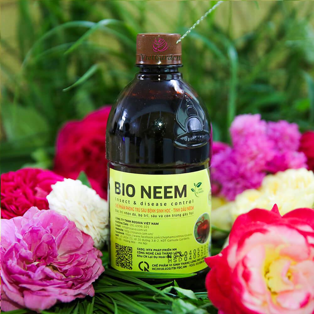 Chế phẩm phòng trừ sâu bệnh sinh học Bio Neem từ tinh dầu Neem dành cho cây hoa hồng