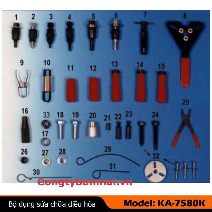 Bộ dụng cụ sửa chữa điều hòa KA-7580K