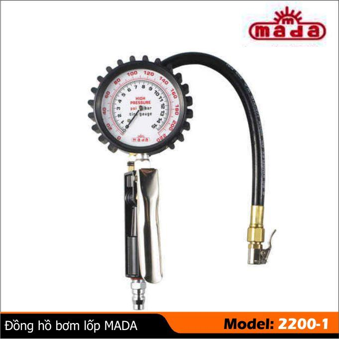 Tay bơm lốp có đồng hồ 2200-1