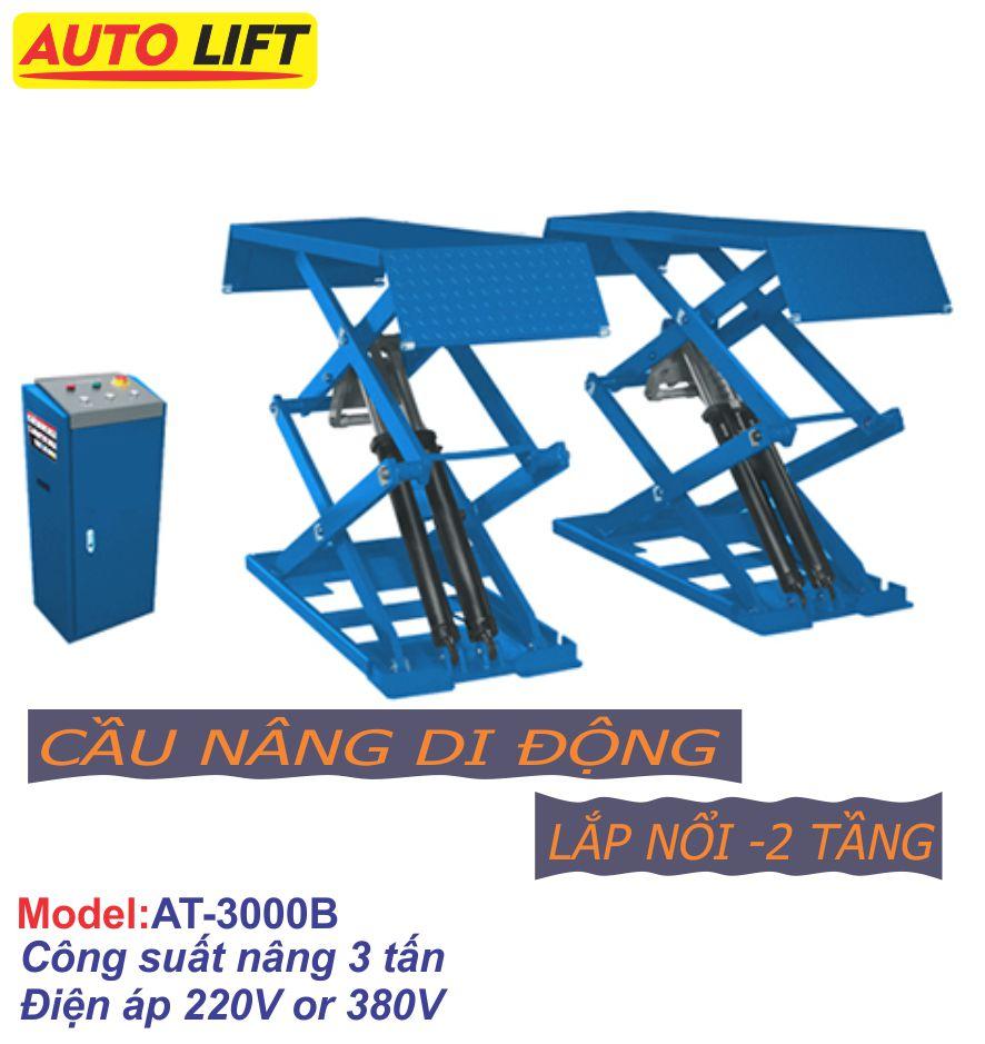 Cầu nâng cắt kéo dương nền (Nâng bụng) AT-3000B